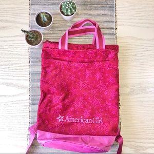 American Girl Pink Star Backpack